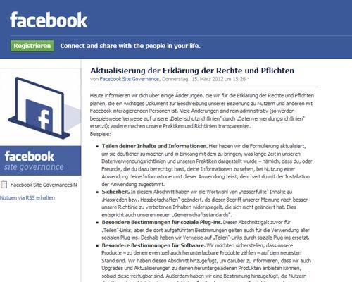 Facebook neue Richtlinien