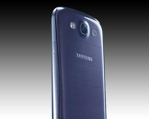 Samsung Galaxy S3 Blau rückseite