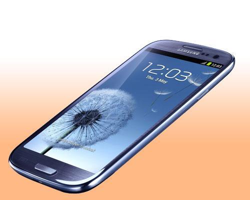 Samsung Galaxy S3 Blau Liegent