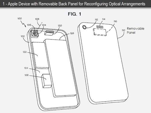 Apple iPhone Rückseiten Patent