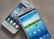 iPhone 5 und Samsung Galaxy
