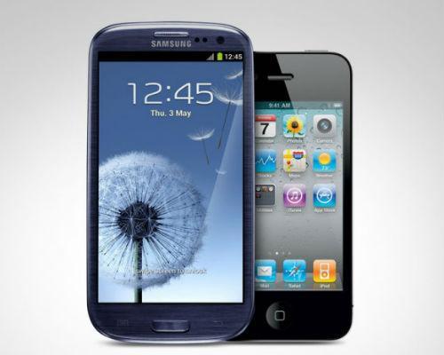 Samsung Galaxy S3 gegen Apple iPhone 4S