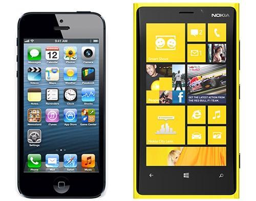 Nokia Lumia 920 vs. iphone 5