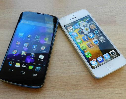 Google Nexus 4 vs. iPhone 5