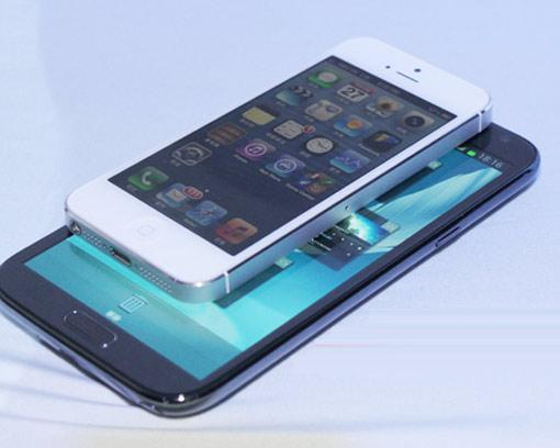 Samsung Galaxy Note 2 und Apple iPhone 5: