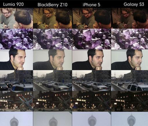 iPhone 5, HTC One und Nokia Lumia 920 Kamera