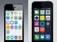 Neues Apple iOS 7 vs.
