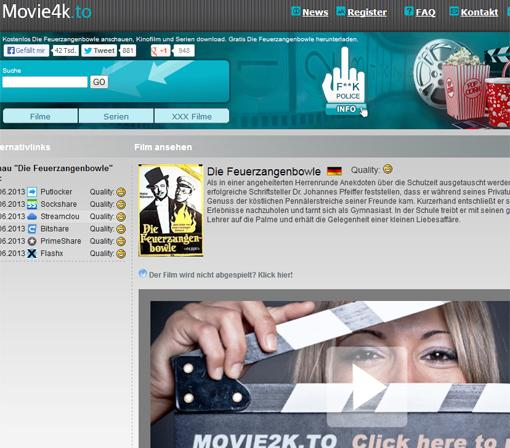 Movie4k.to: Anruf von Polizei