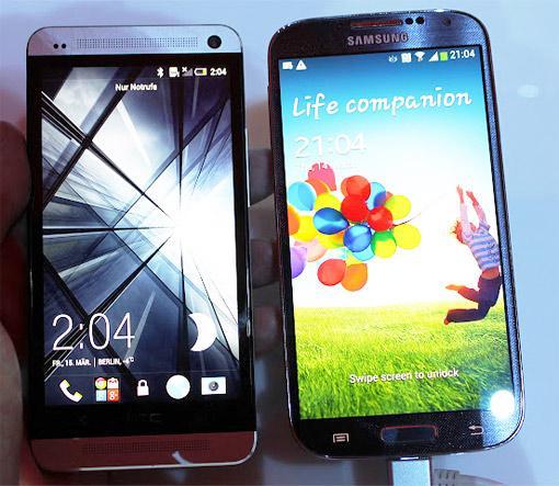 Samsung Galaxy S4 und HTC One