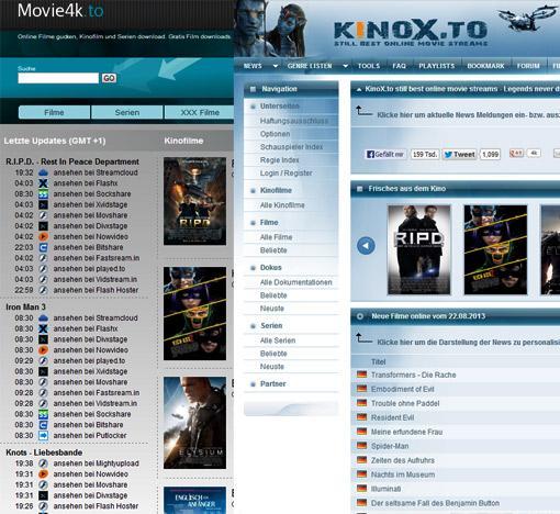 Filme gucken auf Kinos.to und Movie4k.to