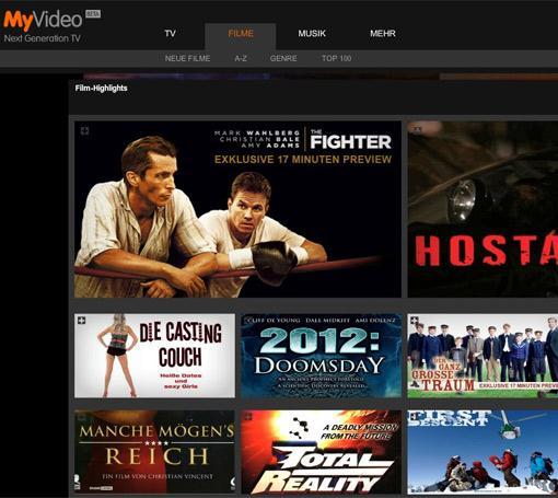 Kostenlose Filme auf MyVideo