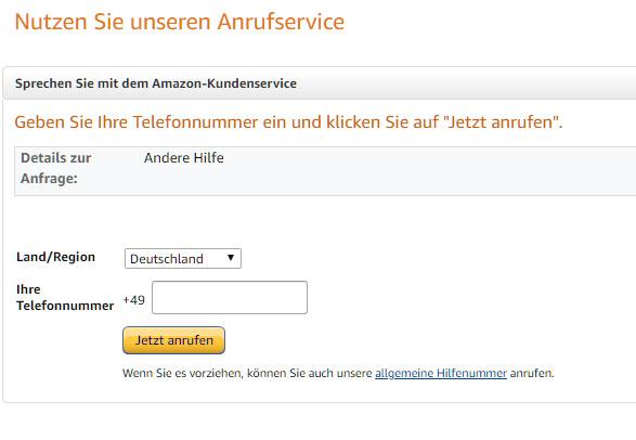 Amazon Deutschland Hotline